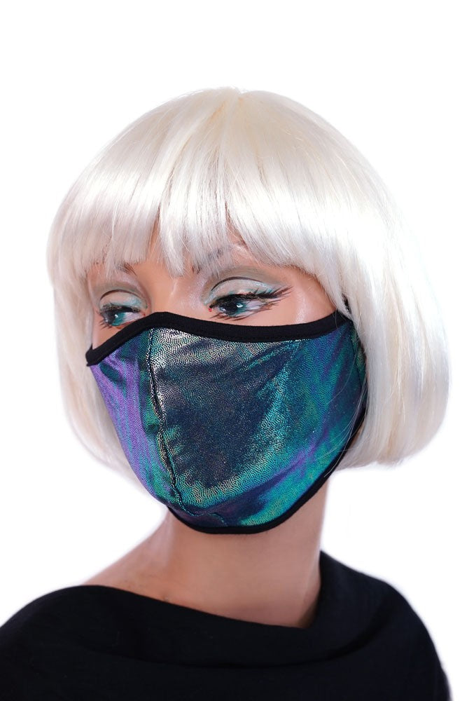 Peacock Iridescent Mask