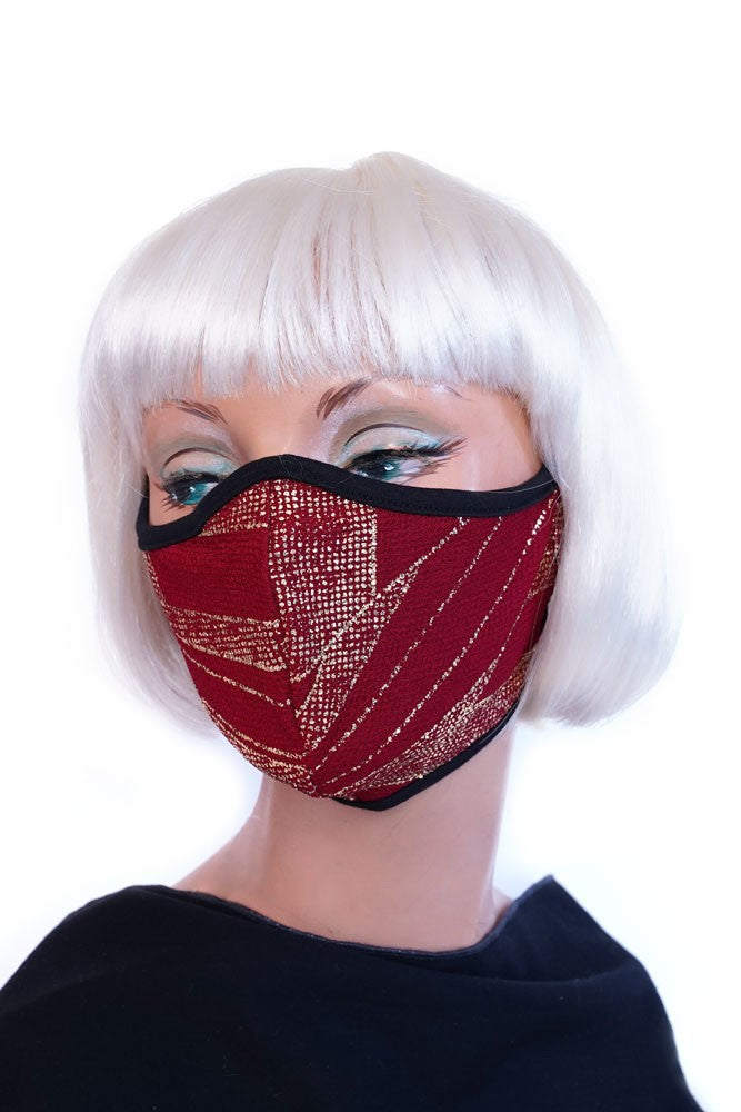 Gold Crystal Red Mask