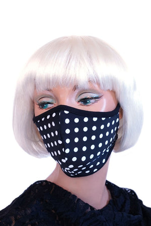 Black & White Polka Dot Mask
