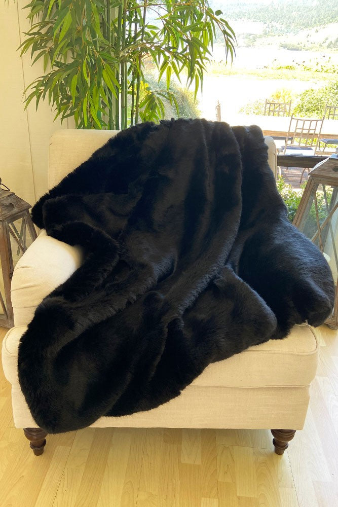 The Fiona Lux Faux Fur Blanket