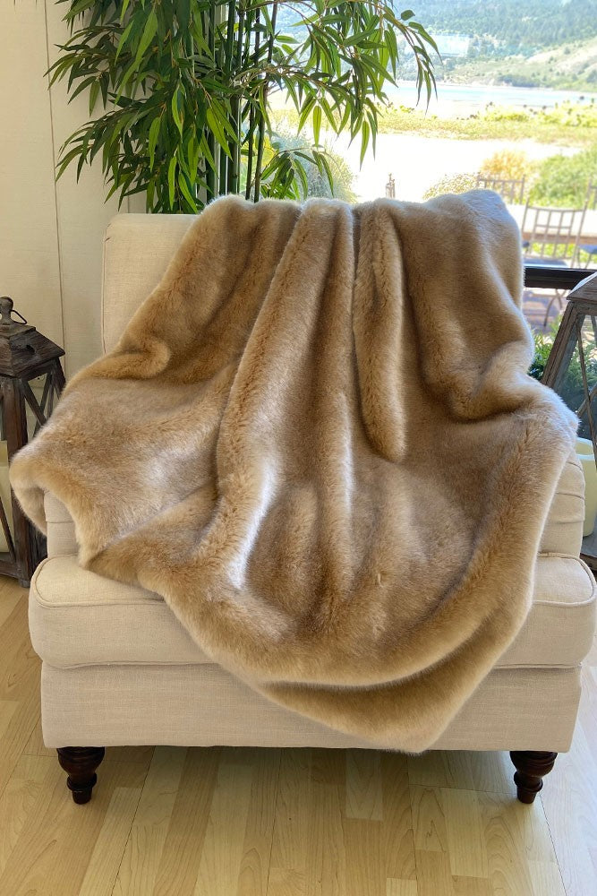 The Cloe Lux Faux Fur Blanket