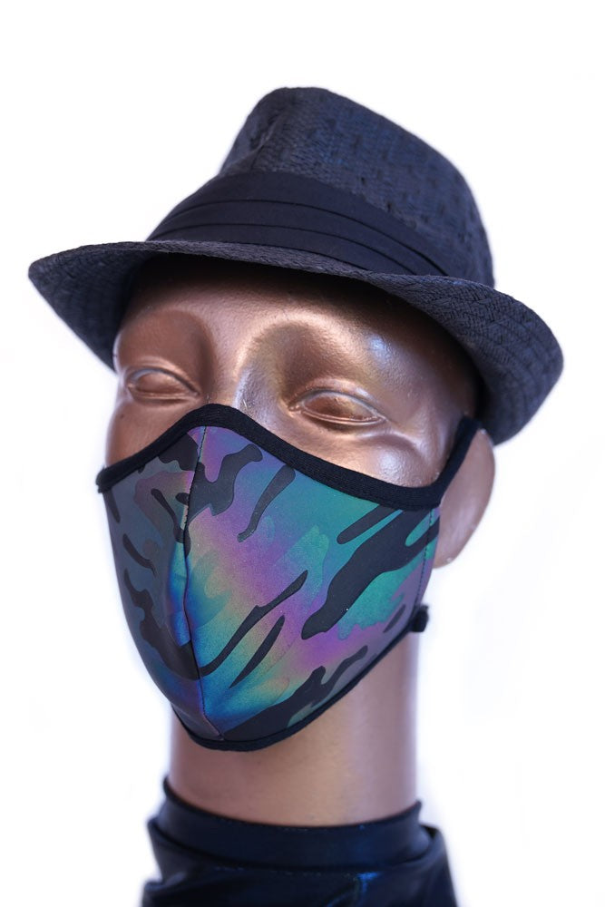 Reflective Rainbow Camo Mask