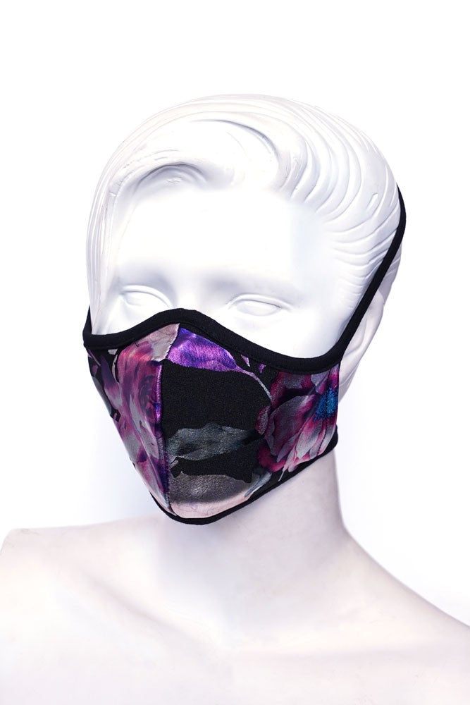 Metallic Floral Kids or Small Adult Mask