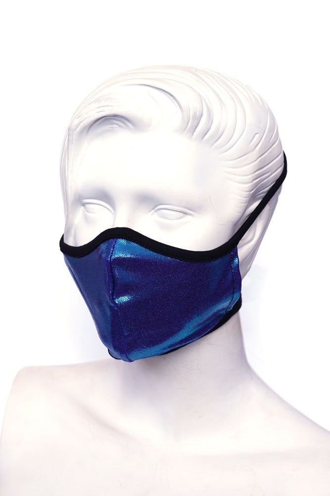 Neon Blue Kids or Small Adult Mask