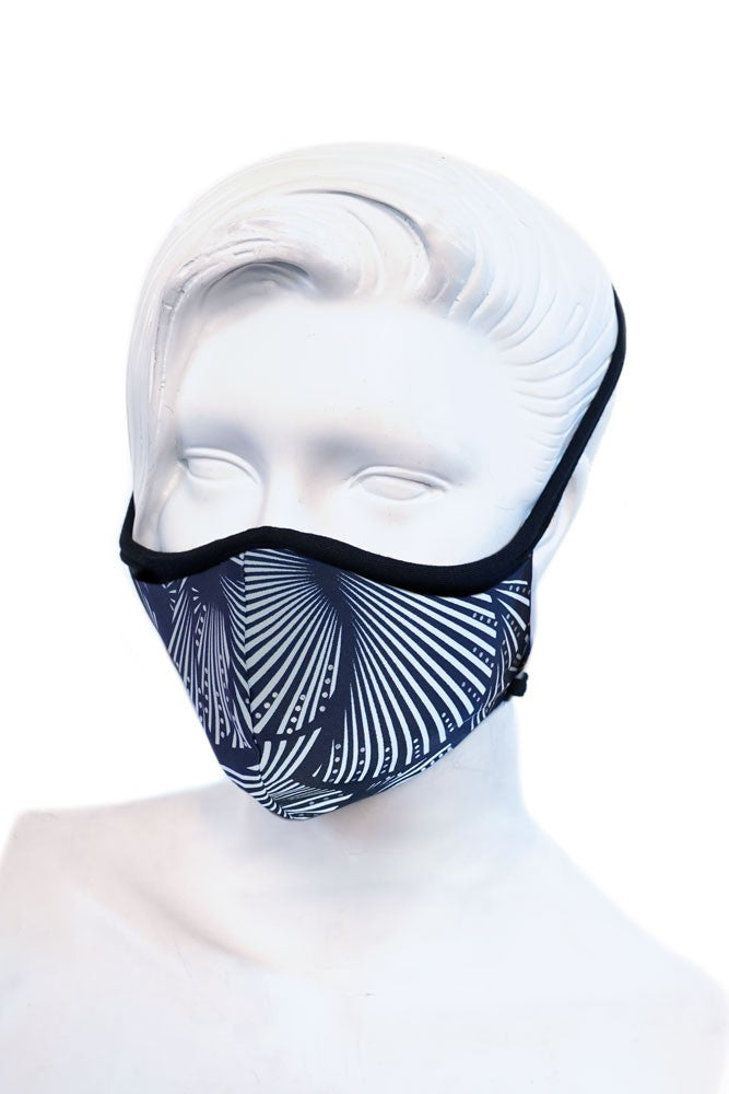 Black & White Shell Kids or Small Adult Mask