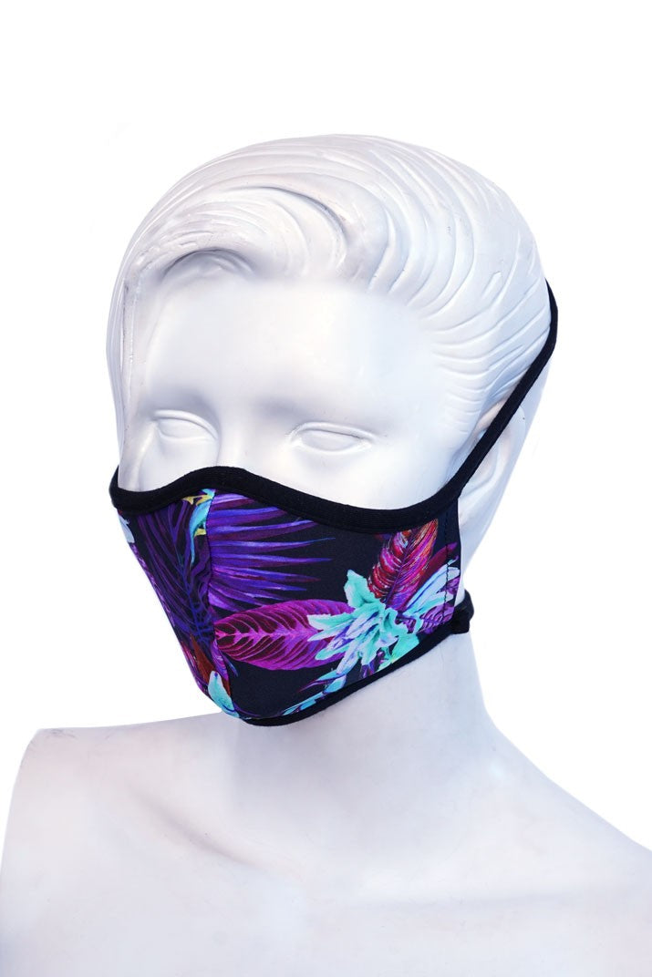 Purple Floral Kids or Small Adult Mask