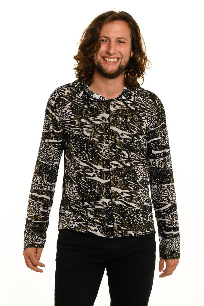 African Mix Long Sleeve Men's Top