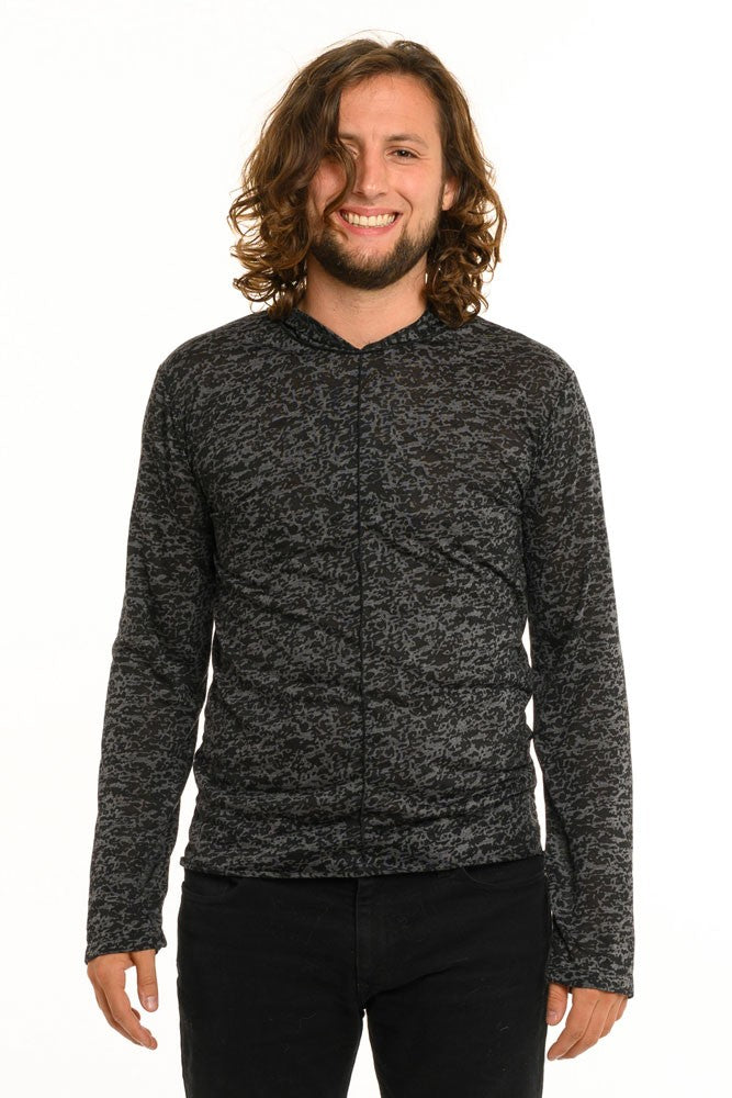 Black & Grey Aspen Long Sleeve Men's Top