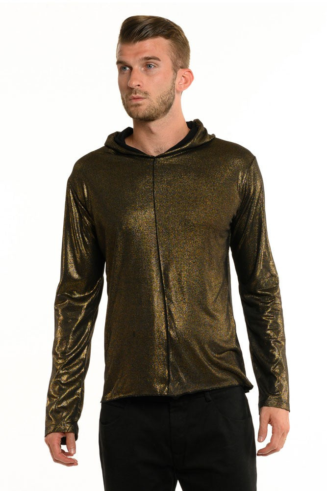 Dark Antique Gold Long Sleeve Men's Top
