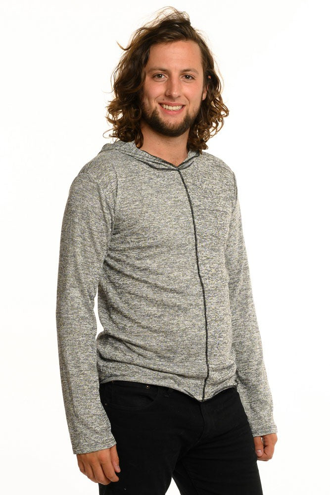 Light Grey Fine Long Sleeve Men's Top