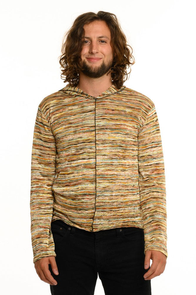 Multi Stripe Long Sleeve Men's Top