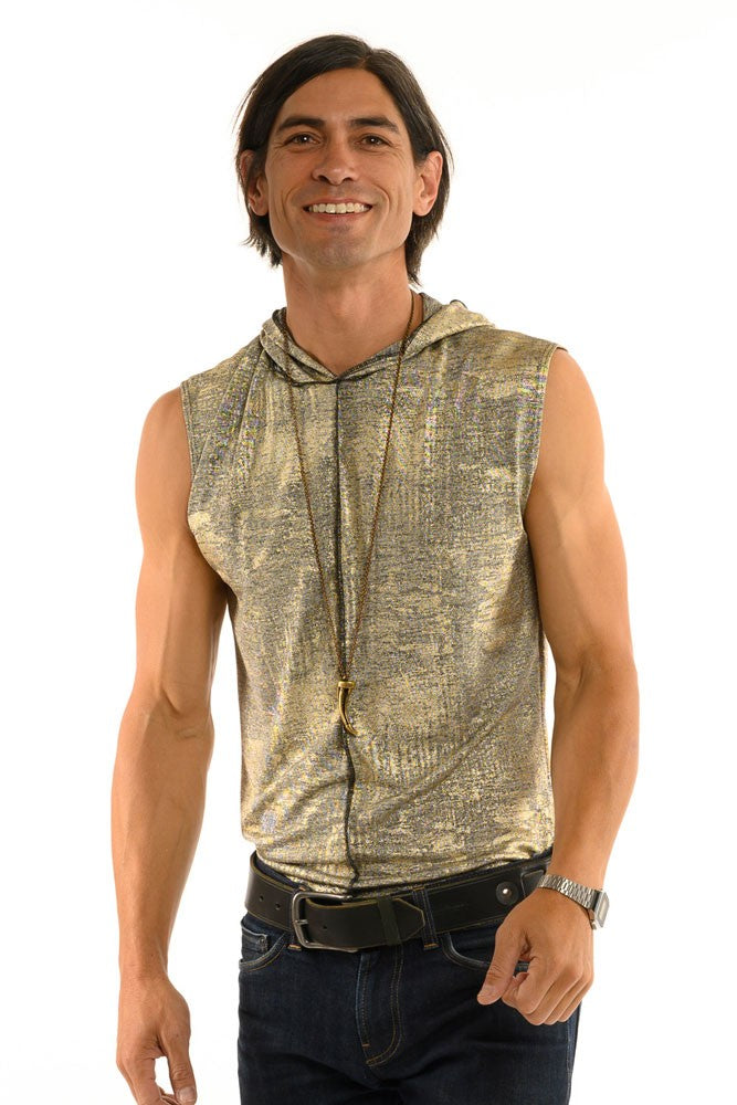 Antique Gold Sleeveless Men's Top