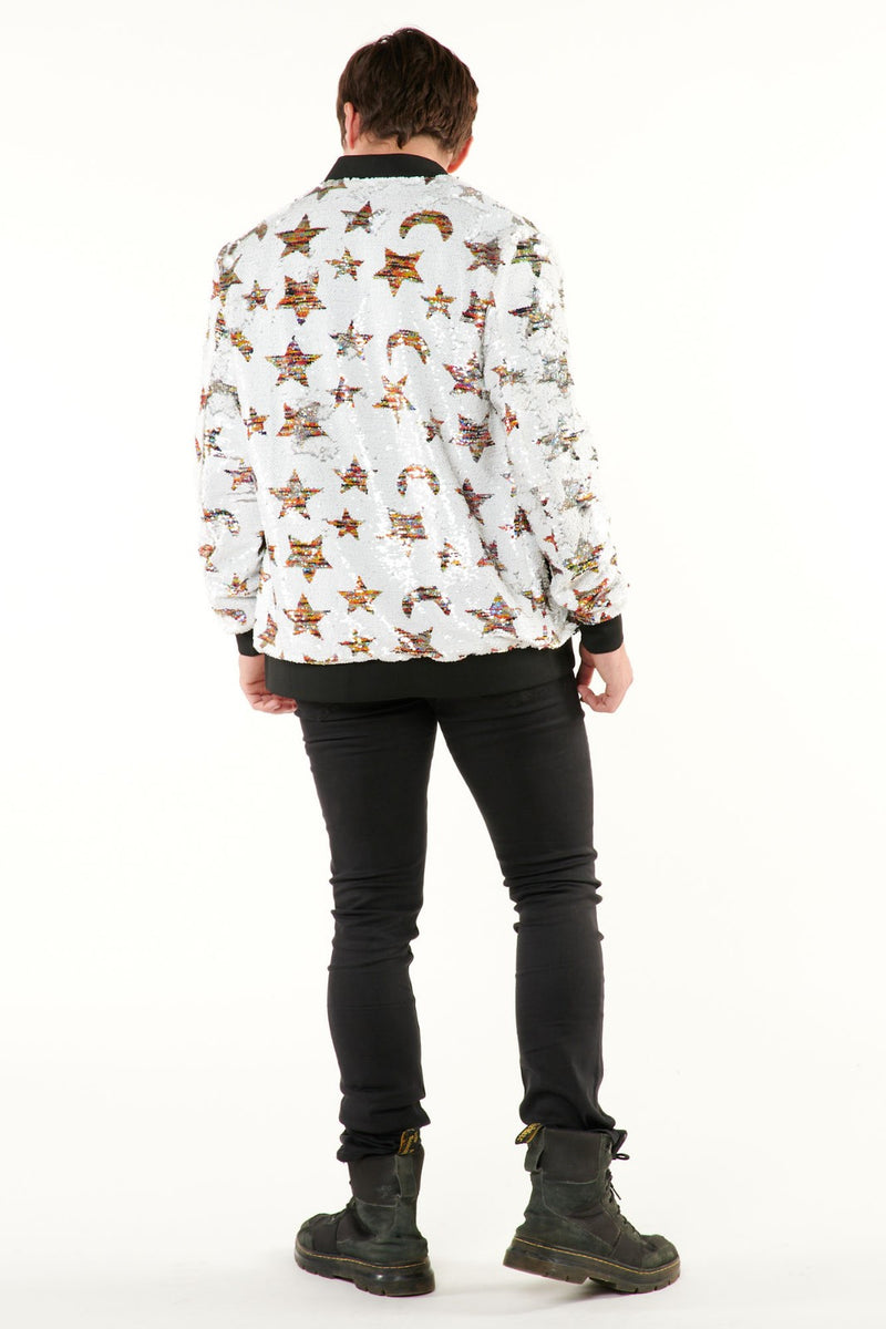 Flip Sequin Star Bomber Jacket