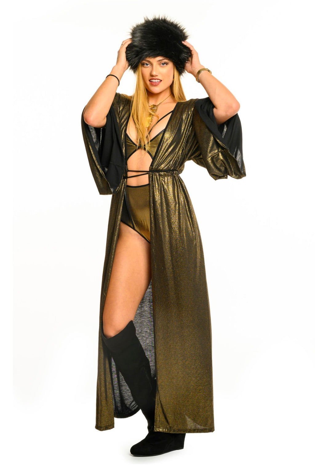 Dark Antique Gold Gemini Leisure Robe