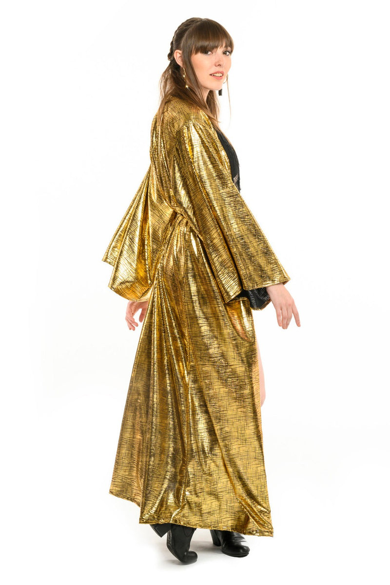 Gold Foil Gemini Leisure Robe