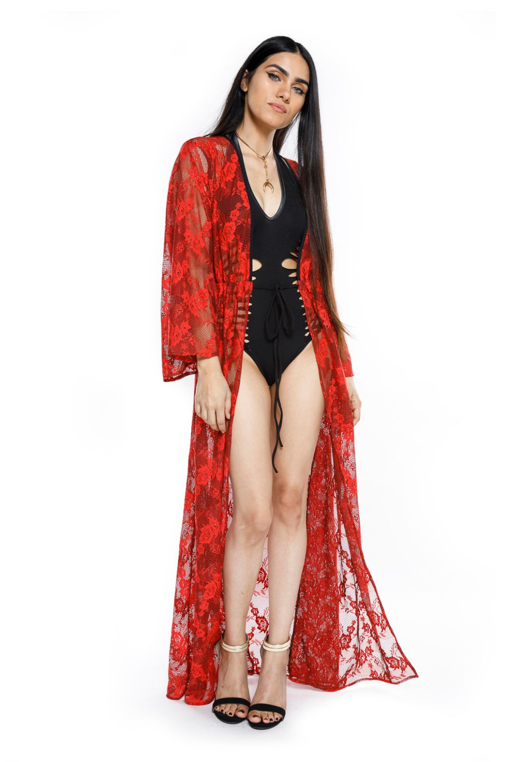 Red Lace Gemini Leisure Robe