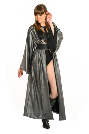 Metallic Gun Metal Gemini Leisure Robe