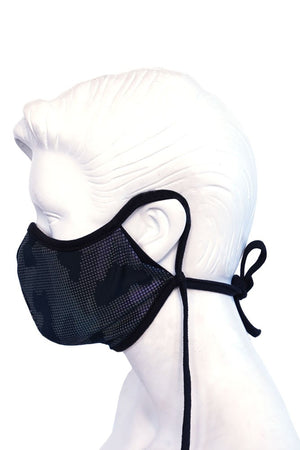 Matte Pleather Black Mask