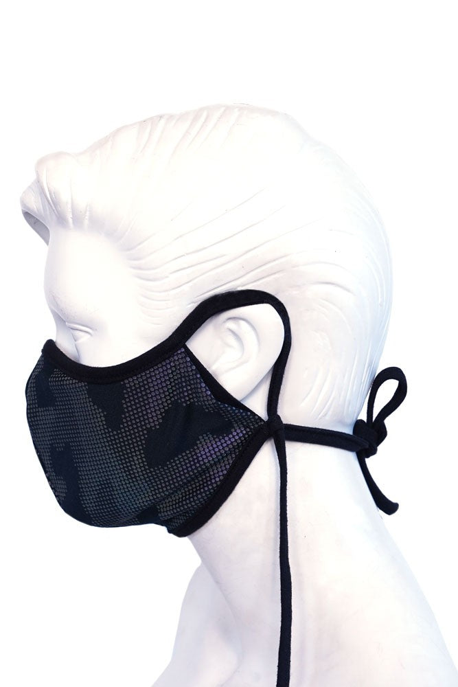 Black Geo Embossed Kids or Small Adult Mask