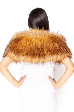 Brown Fox Faux Fur Stole