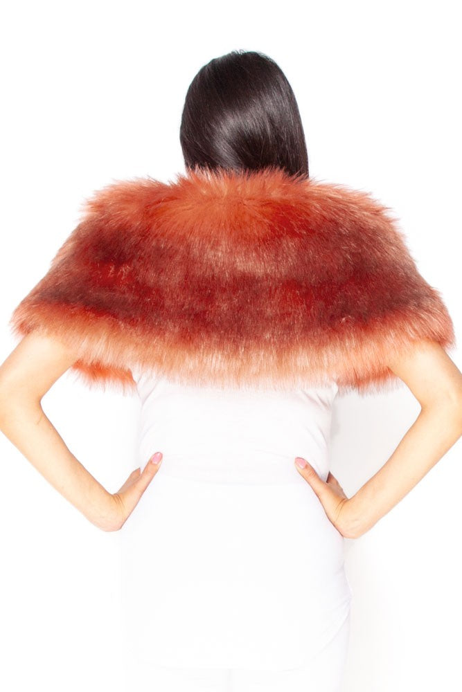 Rose Faux Fur Stole
