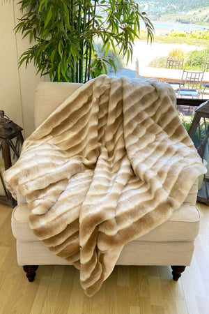 The Crumpet Lux Faux Fur Blanket