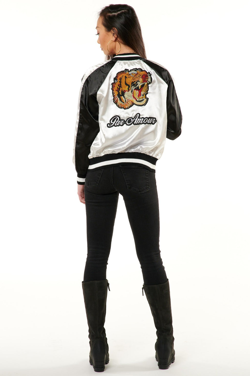 Tiger Satin Bomber Jacket