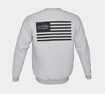 New York / American Flag Sweatshirt  (Black Logo)
