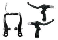 Promax Alloy 'V' Brake Set Levers + Arches Black
