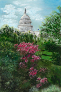 DOME OVER AZALEAS-Gallery wrapped canvas