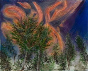 FLAMES OVER RUIDOSO-original oil painting on canvas