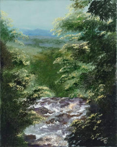 GEORGIA'S BEAUTY-original oil painting on canvas