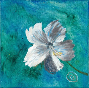 HIBISCUS-Gallery wrapped canvas