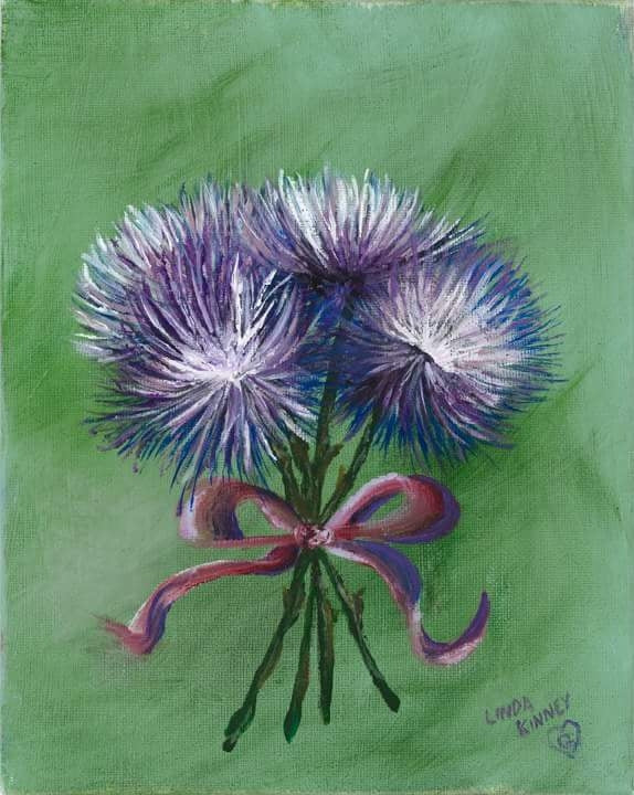 LILAC SPIDER MUMS-High Resolution Giclee Print