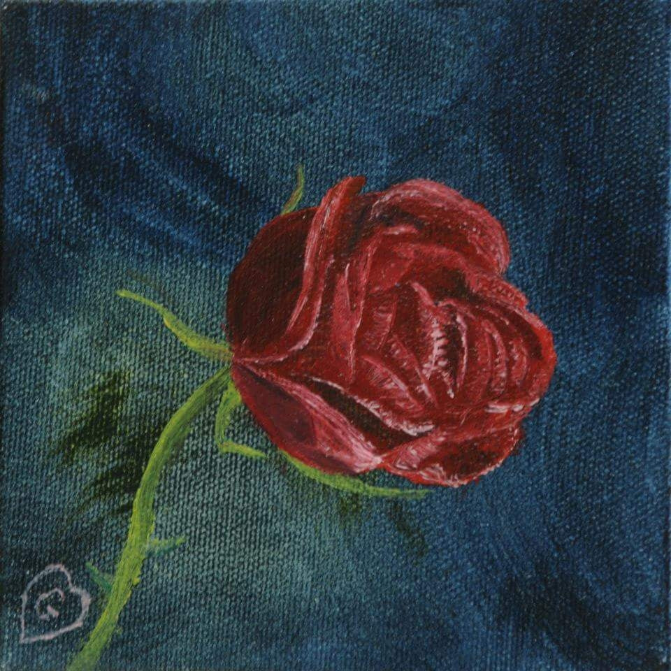 NEW ROSE-Gallery wrapped canvas