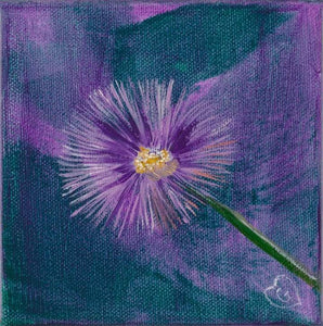PURPLE SHASTA-Gallery wrapped canvas