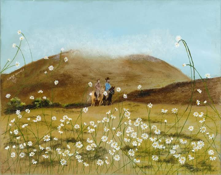 RIDE THROUGH THE DAISIES-Gallery wrapped canvas