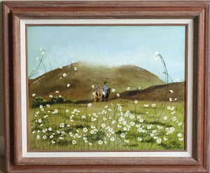 RIDE THROUGH THE DAISIES-original oil painting on canvas