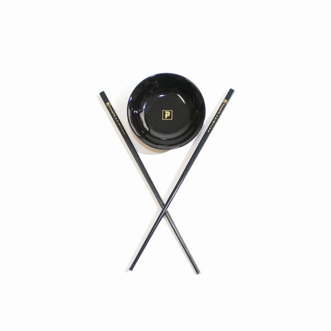 PRIMITIVE CHOP STICKS DISH SET