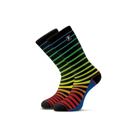 DIRTY P BLOCK STRIPED CREW SOCK