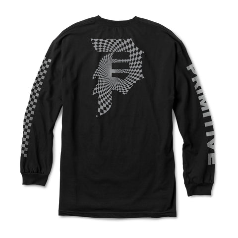DIRTY P WARP LS TEE REFLECTIVE