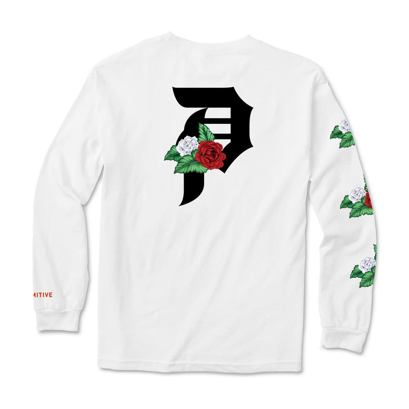 DIRTY P DOS FLORES LS TEE