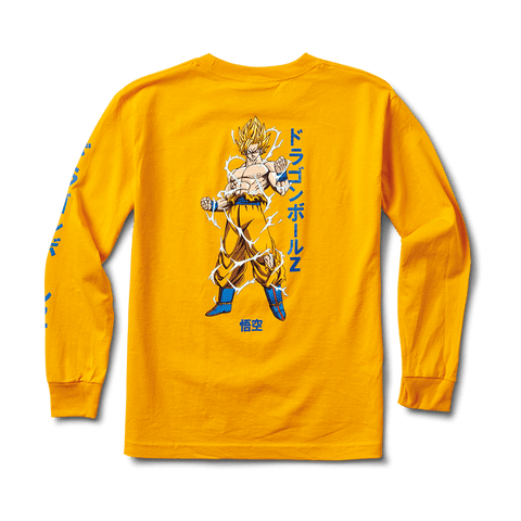 SUPER SAIYAN GOKU YOUNG MENS LS TEE