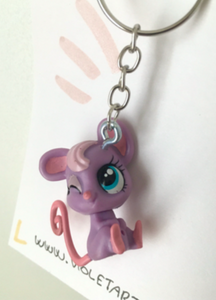 Cute LPS (Littlest Pet Shop) mouse keychain.