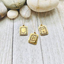 Load image into Gallery viewer, The Deco Gold Initial Necklace