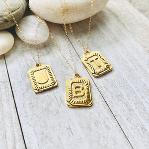 The Deco Gold Initial Necklace