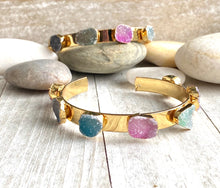 Load image into Gallery viewer, Prism Druzy Bangle Bracelet