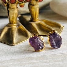 Load image into Gallery viewer, Andromeda Amethyst Studs