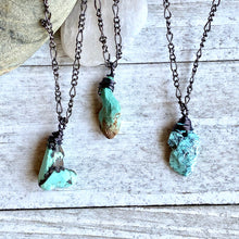 Load image into Gallery viewer, Seraphina  Turquoise Nugget Necklace