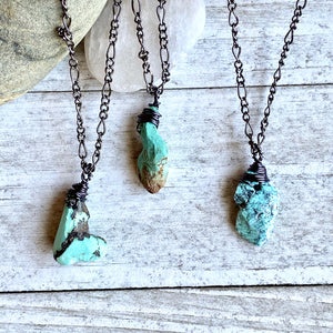 Seraphina  Turquoise Nugget Necklace